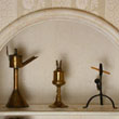 Dutch Oil Lamp, Acorn Lamp, and Rush Light